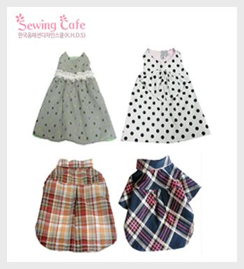 9.민소매원피스 & 10.카라셔츠 강아지옷 패턴